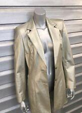 ESCADA Vintage Metallic Gold Lambskin Leather Blazer Jacket