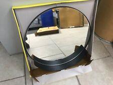 Round Metal Shelf Mirror Black - Modern by Dwell Magazine~22 inch