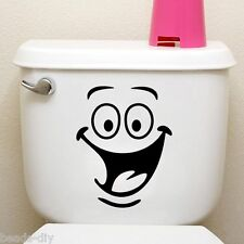 BD 1Sheet Toilet Wall Sticker Decal Mural Art Decor Funny Car Home Bathroom