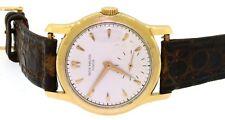 Patek Philippe 2450 1950s 18k gold thick case mens watch w/ box & original dial