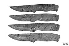 LOT OF 4 DAMASCUS STEEL BLANK BLADE KNIFE FOR KNIFE MAKING SUPPLIES AH-785