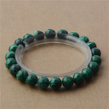 8mm Natural Malachite Crystal Beaded Bracelet Sutra tassel Chakas Wrist Gemstone