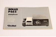 Rollei P66S autofocus Bedienungsanleitung