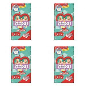 Pampers Baby Dry Mutandino Misura 7 XXL 17Kg+ (4x14Pannolini)