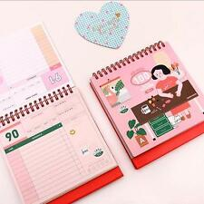 """Girls Daily"" 1pc 100 Days Planner Mini Diary Study Agenda Scheduler Notebook"