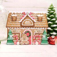 Stanzschablone Silikonstempel Lebkuchen Haus Weihnachten Geburtstag Karte Album
