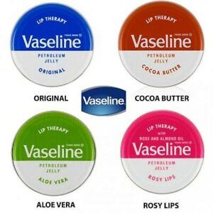 Vaseline Lip Therapy Petroleum Jelly Lip Balm Tin 20 g ( Choose Kind & Quantity)