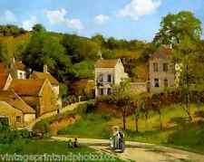 Hermitage Pontoise by C Pissarro French Country Village Landscape 8x10 Print 28