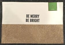 """KATE SPADE NEW YORK~Food for Thought """"BE MERRY BE BRIGHT"""" Placemats~SET OF 4~NWT"""