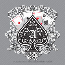 Ace of Spades Cards Pegatina Calcomanía Laptop PC iPad Patineta Poker-SKU2962