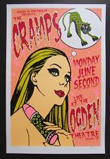 Rare CRAMPS Punk Poster Serigraph Limited Edition 105/211 Lindsey Kuhn 03'