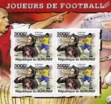 Kaka (el Kaká) (AC Milan) Hoja de sellos jugador de fútbol #4 de 5 (2011 Burundi)