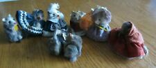 Lot Of 5 Vintage Original Fur Toys Germany, 1 Mouse Factory, 1 Russ Mice