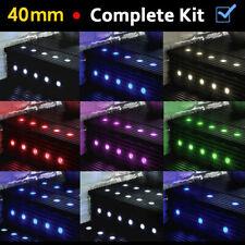 More details for 10 / 20 / 30 x led 40mm round garden decking deck kitchen lights lighting kits