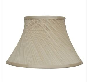 Champagne twisted pleat lampshade table or ceiling light 16""