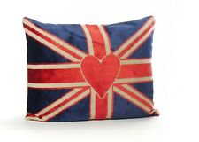 Vintage Tapestry Union Jack 12 x 16in Bolster Cushion (with quality fibre pad)
