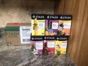 New Stash Tea Fruity Herbal Tea Six Flavor Assortment 116 Count Tea Bags