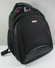 "Murano 15"" Laptop Computer Travel Carry On Backpack Black Heavy Duty Bag"
