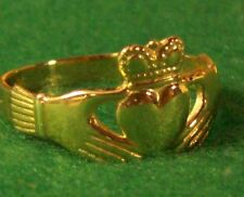 "Ladies Claddagh Ring Solid 14K Yellow or White Gold Most Sizes ""Wholesale Price"""