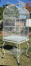 Large Dome Open Top Parrot Bird Cage On Stand for Sun Parakeets Conures Quaker