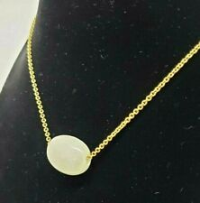 Lot of 3 Necklaces - Light Grey Candy Stone Pendant, Gold Plated by Pilgrim