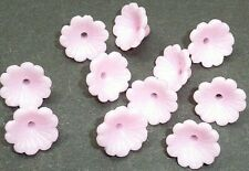 10 Soft Pink Vintage Flower Buttons 12mm wide