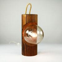 Temde Totem Tisch Leuchte Holz Pfahl Steh Wand Lampe Vintage 60er 70er