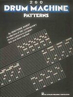 260 Drum Machine Patterns, Paperback, Brand New, Free shipping in the US