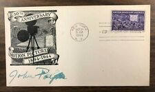 John Payne AUTOGRAPHED FDC, 50th Anniversary Motion Pictures 1894-1944