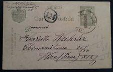SCARCE 1920 Romania 10B green Karl I stamped Postcard cancelled Bârlad