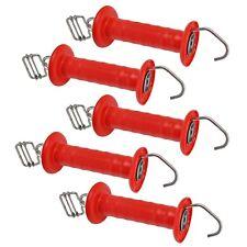 5x Torgriffe mit 40mm Bandverbinder Edelstahl Torgriff rot Federzugbegrenzung