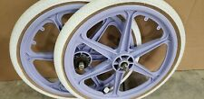 Lavender Old Bmx Skyway STREET beat Styler O.E. Mag Wheels tires Freestyle bike