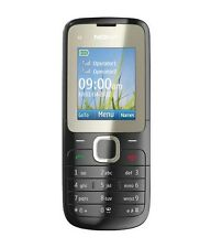 NUOVA condizione Nokia C2-00 Nero Dual Sim fotocamera Bluetooth semplice telefono cellulare