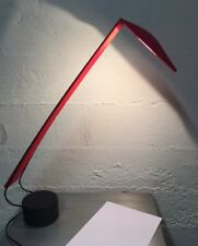 Vintage RED 1980'S ITALIAN PAF MARIO BARBAGLIA Marco Columbo  DOVE Desk Lamp