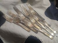 12 Dinner Forks Shakespeare Sectional Pattern Stratford Silver Plate VTG 1924