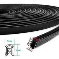 "120"" U Shape Car Door Edge Protector Rubber Seal Strip Sealing Guard Mold Trim"
