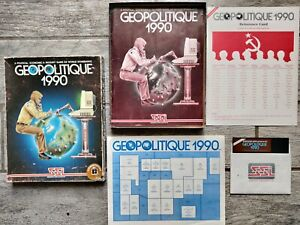 GEOPOLITIQUE 1990 Commodore 64 C64/128 COMPLETE in Box, SSI, Tested & Works!