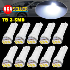10x Pure White T5 1206 3SMD LED Interior Instrument Dashboard Dash Light Bulbs