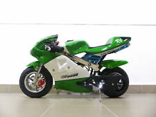 RV-Racing Pocketbike Dirtbike Pocket Rennbike Minibike 49ccm Kindermotorrad Grün