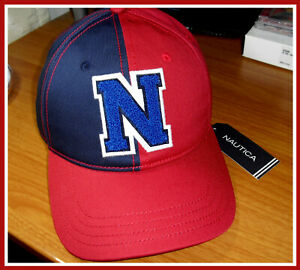 """Nautica Color Block With Embroidered """"N"""" Logo Baseball Cap One Size"""
