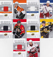 08-09 Upper Deck Brandon Sutter Jersey UD Rookie Materials Canucks 2008