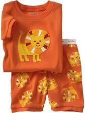 GAP PAJAMA SLEEPWEAR LION JUNGLE BOYS ORANGE BABY 3 6 MONTHS NEW