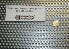 Perforated Mild Steel, 3/16 inch hole, 10 gauge, 60 X 126 inch  38% open area