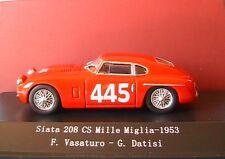 SIATA 208 CS #245 MILLE MIGLIA 1953 VASATURO DATISI STARLINE 540247 1/43 ROSSO