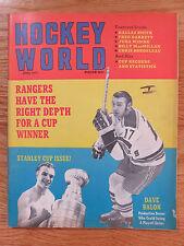 Hockey World DAVE BALON / KEN HODGE Stanley Cup RANGERS BRUINS No Label Magazine