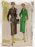1951 McCalls Sewing Pattern 8616 Womens Skirt & Jacket 2 Sleeves 36 Bust 7823F