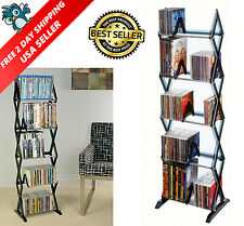 DVD Shelf Storage CD Rack Tower Organizer Multimedia Stand Shelves Holder Media