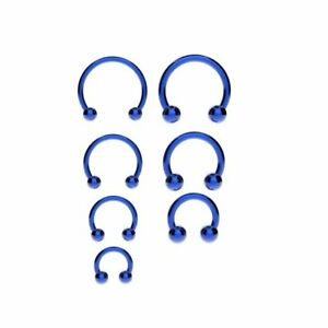 Horseshoe Bar Circular Barbell Lip Nose Septum Ear Ring Various Sizes & Colours