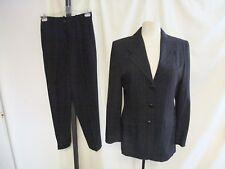 Tuta Donna Betty Barclay, Giacca UK 10, pantaloni Uk 12, Blu scuro Gessato 1359