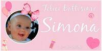 Striscione Banner BATTESIMO Accessori Feste Compleanno Eventi Bambina